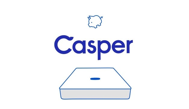 Casper mattress review - logo with pig and bed