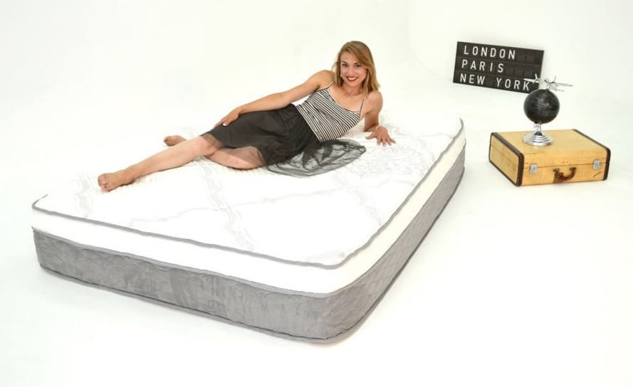 Nest Alexander Signature Select mattress review - woman on side in showroom