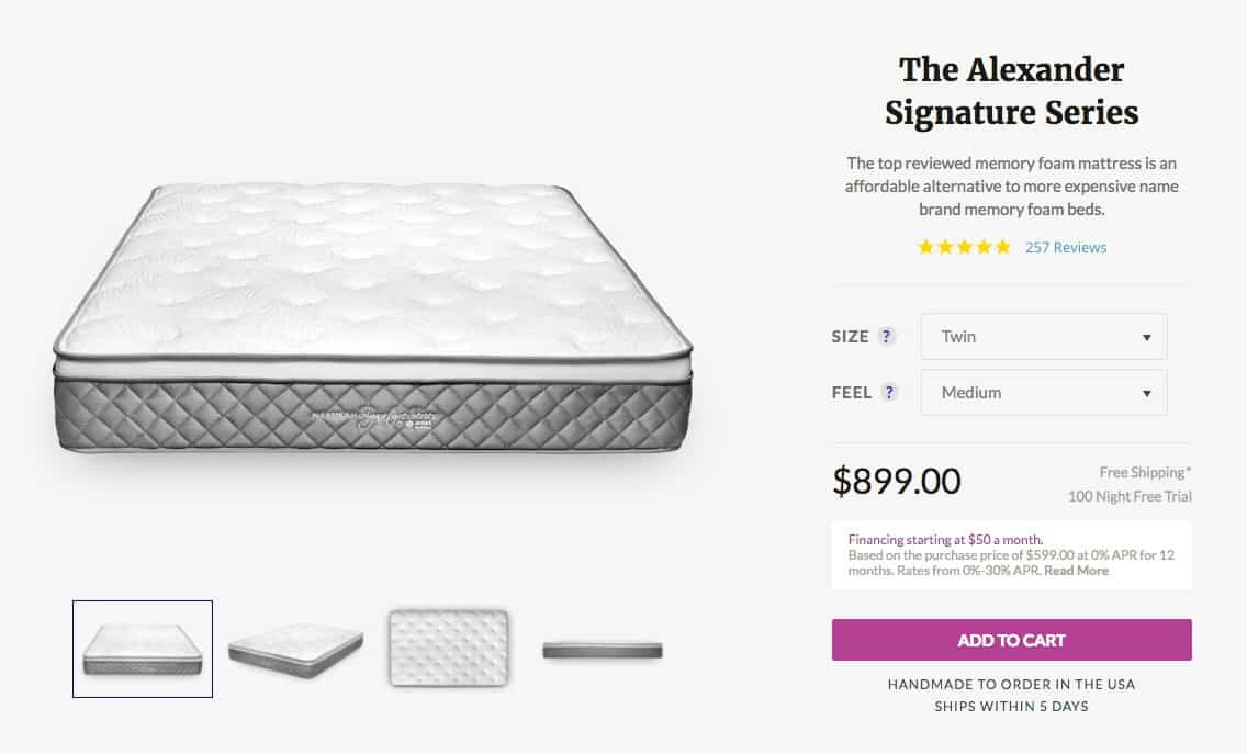 Nest Alexander Signature Series mattress review - order form NEW