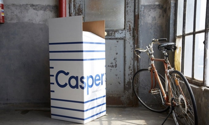 casper mattress review - delivery box opened