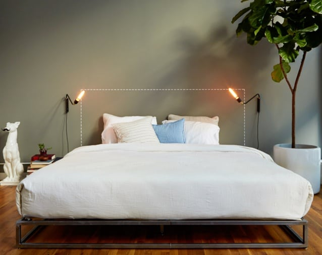casper mattress review - with bedding in apartment