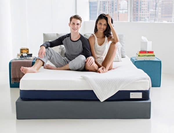 Helix mattress review - couple on bed