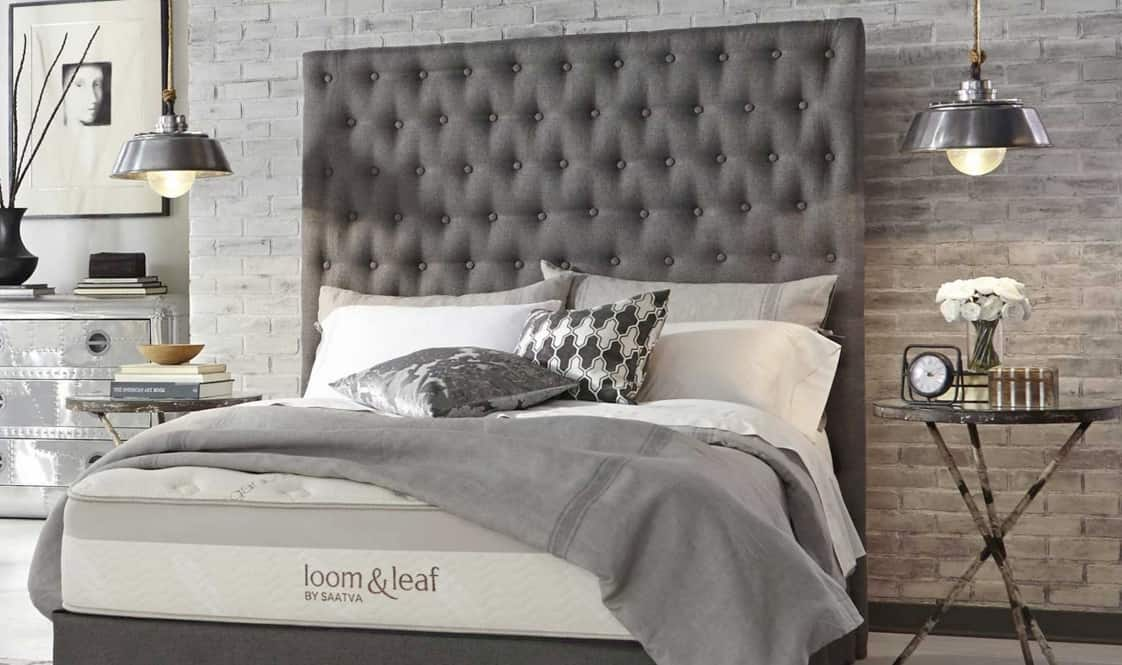 Loom and Leaf mattress review - mattress in luxury bedroom