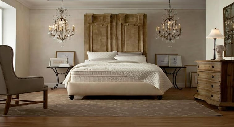 Saatva mattress review - bed in luxury home
