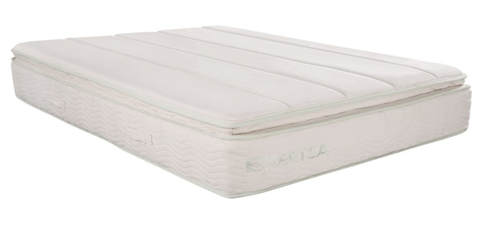 Keetsa Pillow Plus mattress logo front view