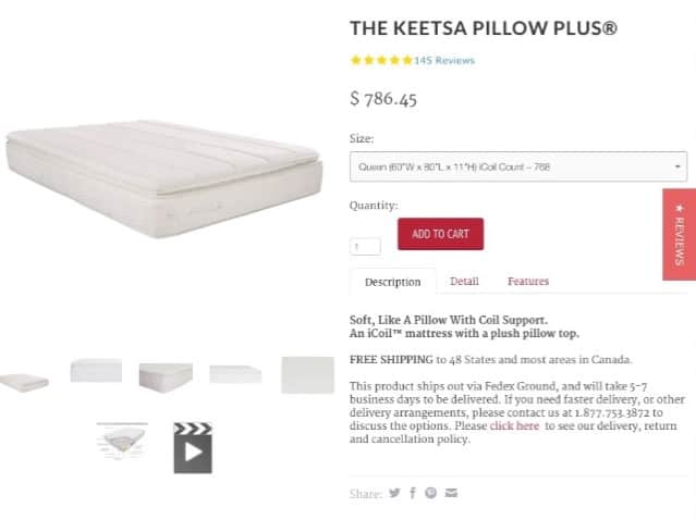 Keetsa Pillow Plus order form