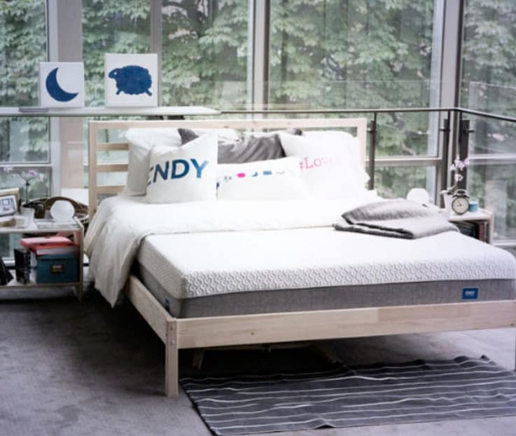 Endy Mattress - on platform bed