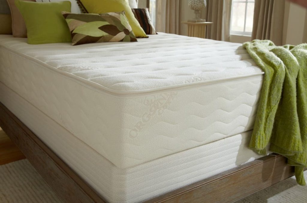 PlushBeds Botanical Bliss Mattress Review - organic cotton top corner view
