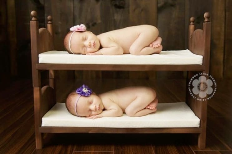 mattress comparisons - babies in bunks