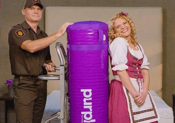 Purple Mattress - mattress in a tube delivered
