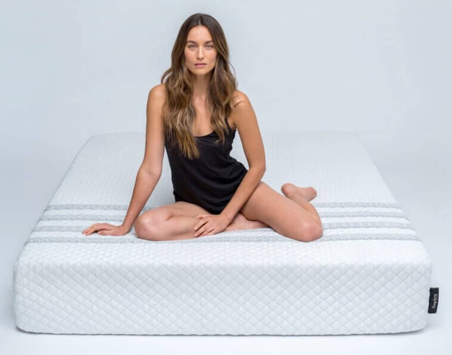 Sapira Mattress Review - front view with model