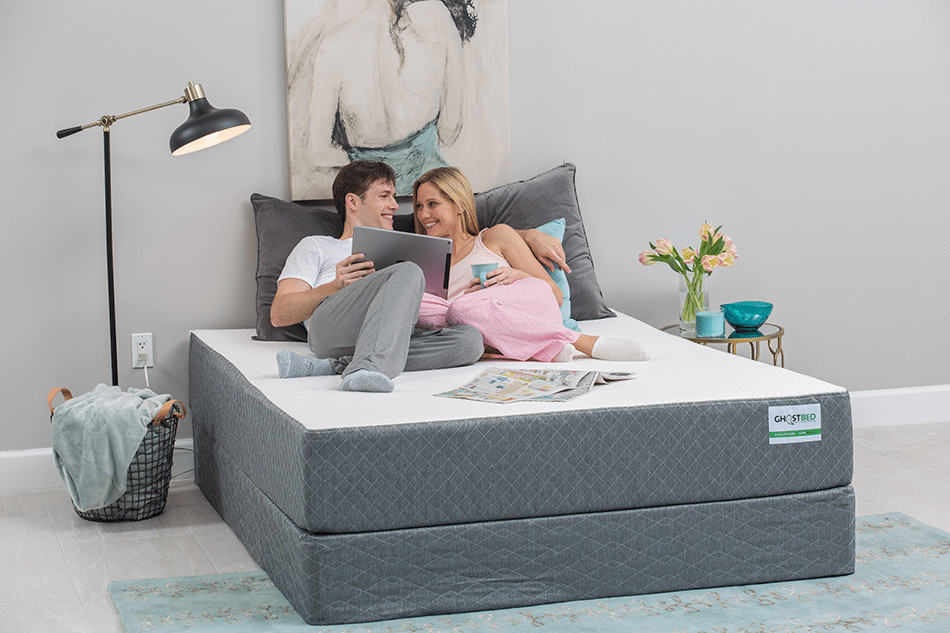 GhostBed Mattress Review - bed and boxspring