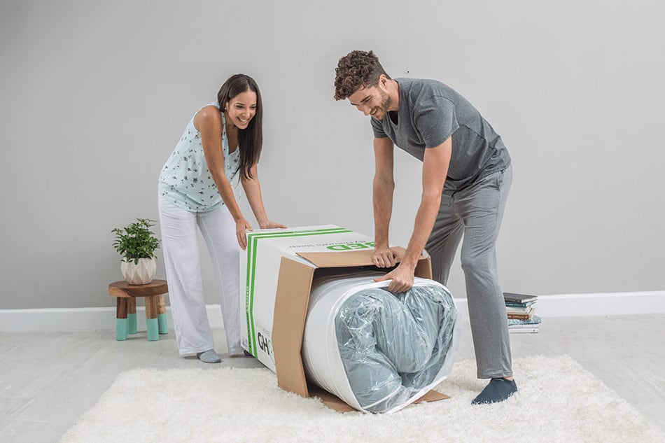 GhostBed Mattress Review - upacking
