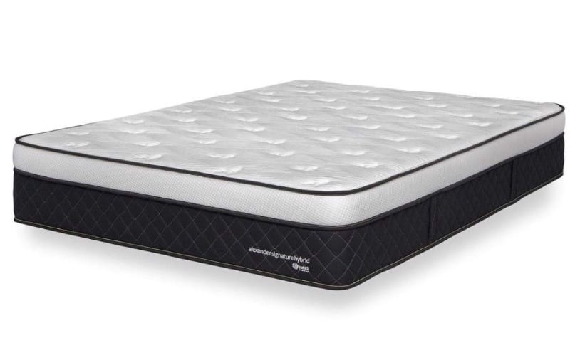 Nest Alexander Hybrid mattress uncovered angle