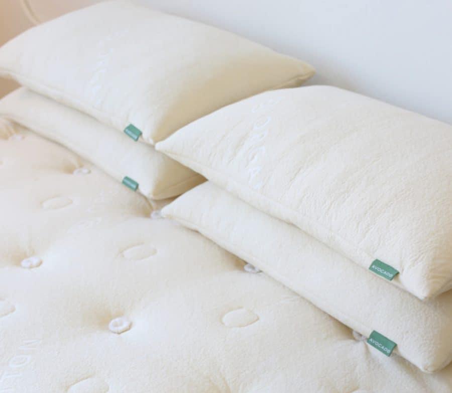 Avocado Green Mattress Review - button tufted organic cotton cover