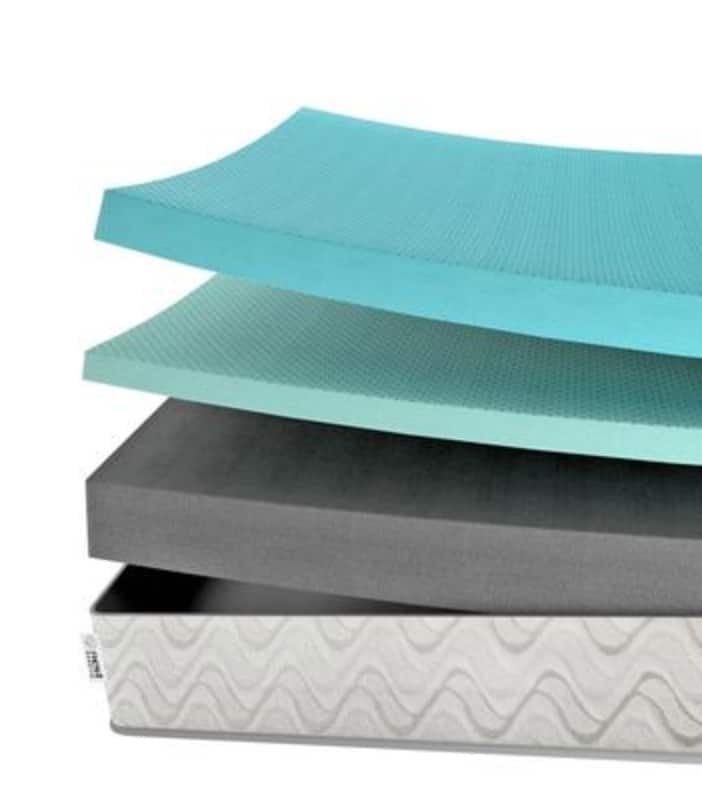 Nest Love and Sleep Mattress Review - layers of foam