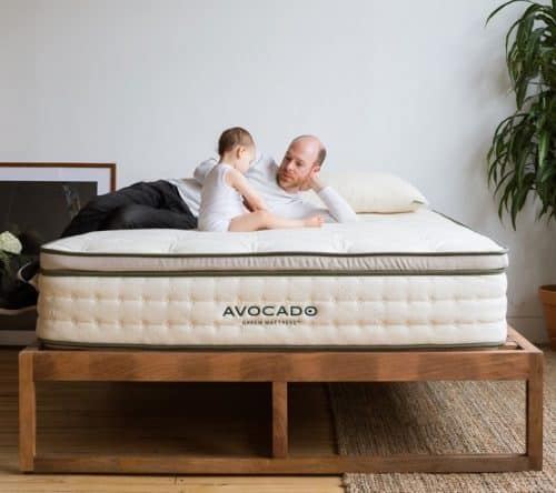 Avocado Green Mattress Review - father and daughter hero