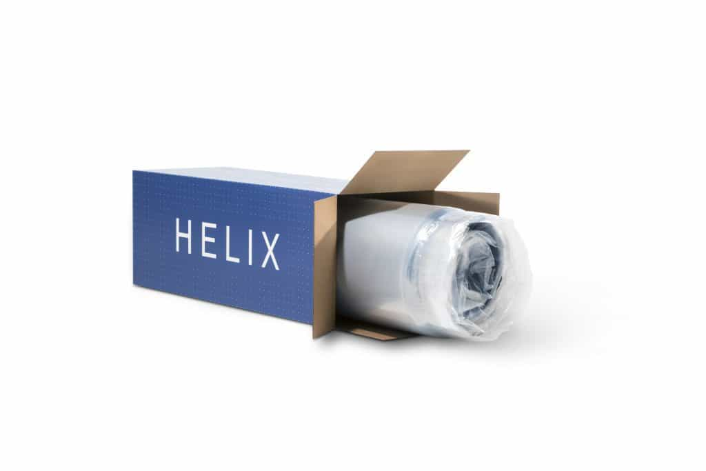 Helix Mattress - Shipping box on side