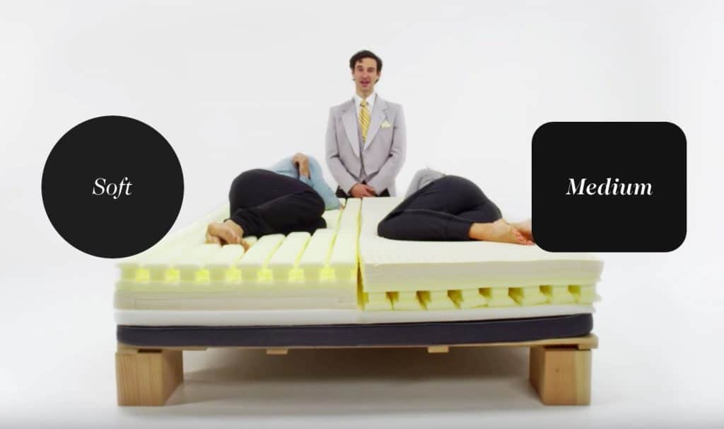 Luxi Mattress - split configuration soft med - flippable mattress