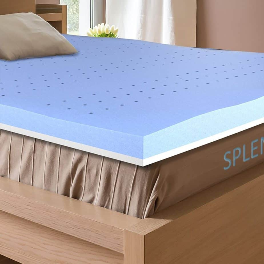 A cooling mattress topper