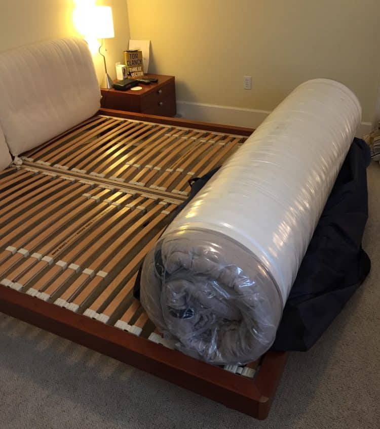 DreamCloud Mattress Review - in roll on bed
