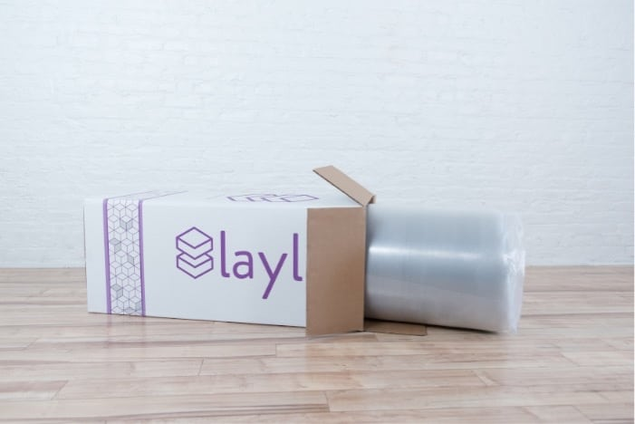 Layla flippable mattress review - delivery in box