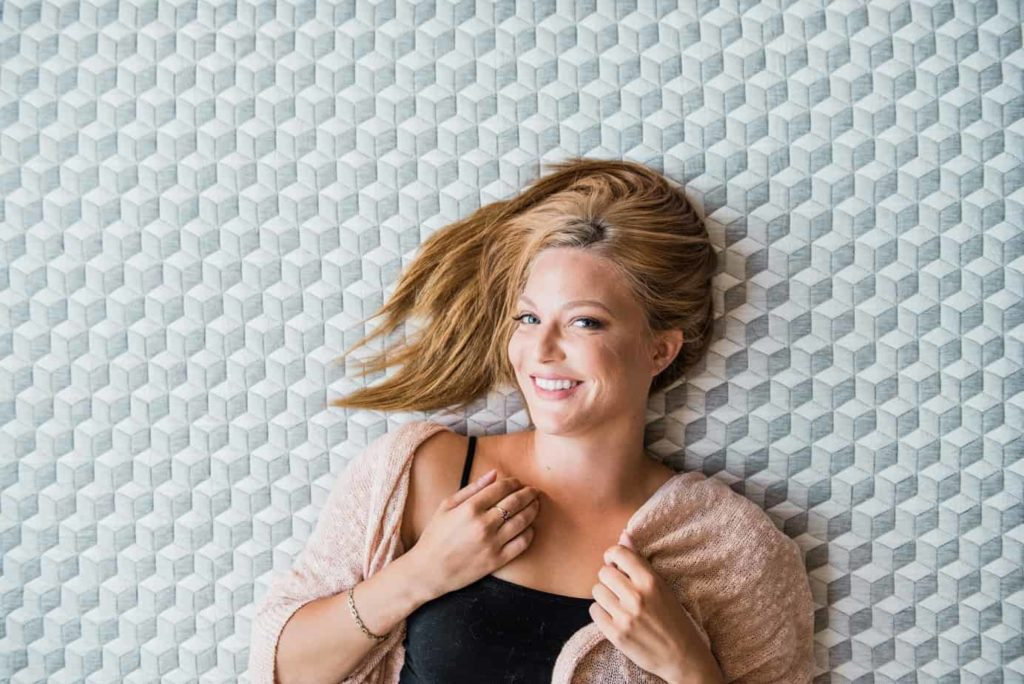 Layla mattress review - woman on cover
