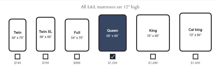 LoomAndLeaf Mattress Review - sizes and prices