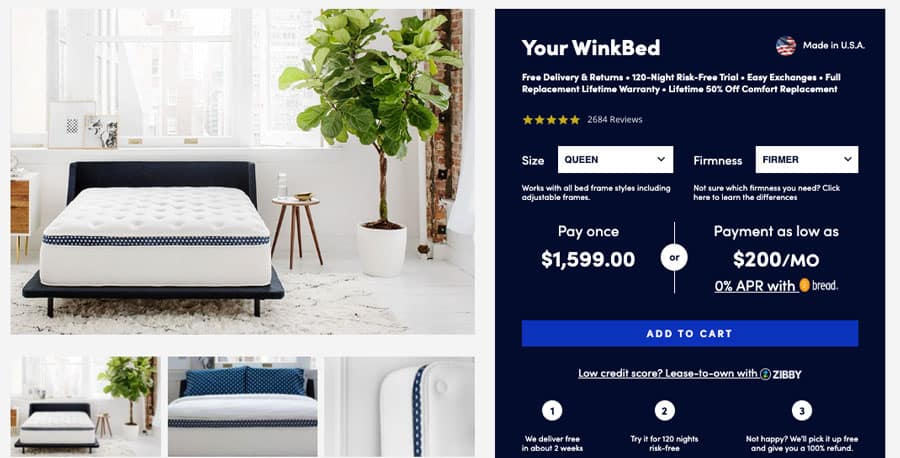 Winkbed mattress review - order form