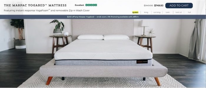 Yogabed mattress review - order form