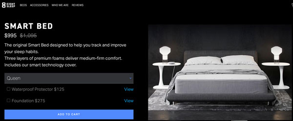 Eight Sleep Smart Bed order form
