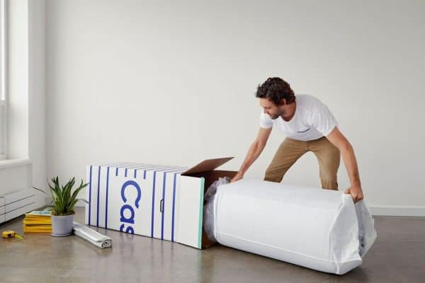 Setting up a bed-in-a-box mattress