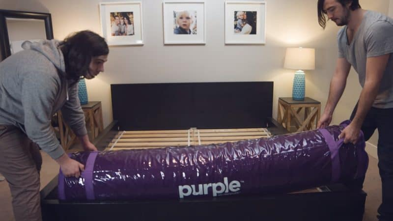 Setting up the Purple mattress