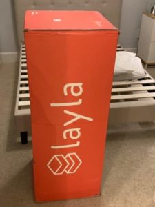 Layla mattress review - box as delivered