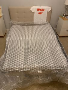 Layla mattress review - IN VACUUM SEAL ON BED
