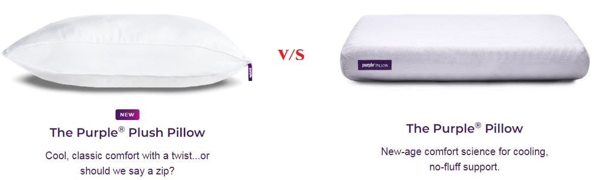 Purple Vs purple plush pillow