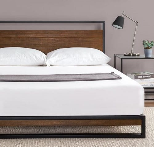 Suzanne Metal and Wood Bed Frame by Zinus