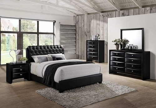 Roundhill Furniture Blemerey 110 Leather Bed Substance