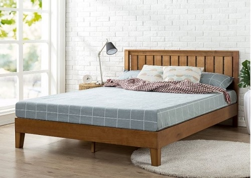 Alexis Deluxe Wood Bed Frame by Zinus