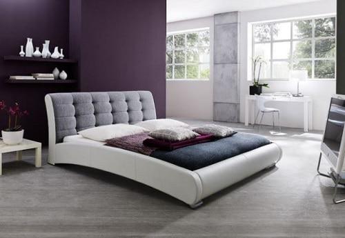 Baxton Studio's Guerin Faux Leather Platform Bed Frame