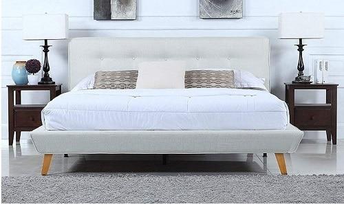 Divano Roma Furniture's Mid-Century Bed Frame