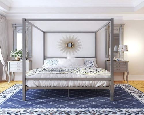 Dorel Home Products (DHP) Modern Canopy Metal Bed