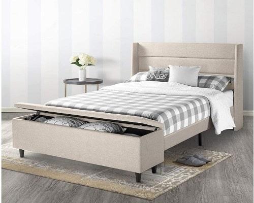 Mellow Peekaboo Wingback Bed