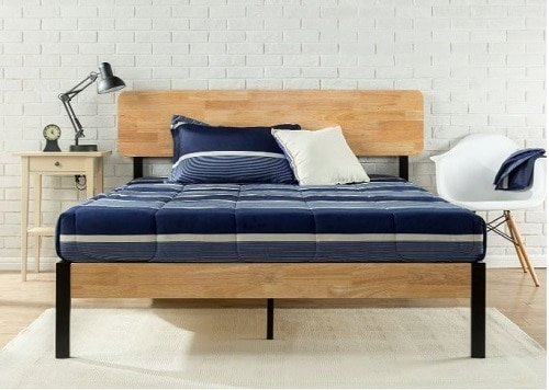 Zinus's Olivia Metal and Wooden Bed Frame