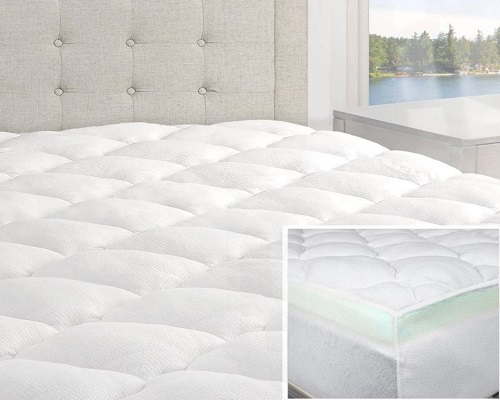 2-Piece Bamboo Mattress Pad and Comfort Topper
