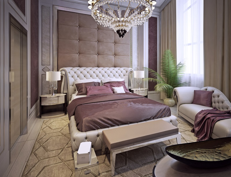 Art Deco Style Bed In Hollywood Style