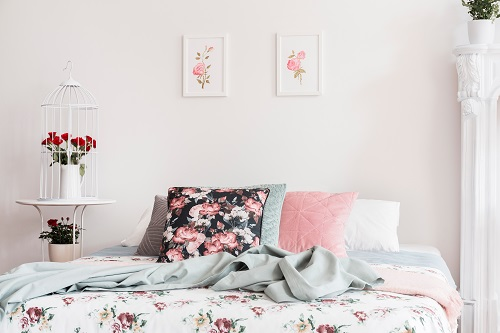Floral Pattern Bed Cover