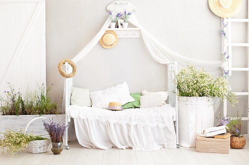 White Country Style Bedroom