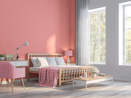 Beach House Bedrooms in Coral Pink