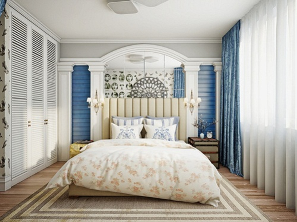Provence Style Bedrooms in Cobalt Blue